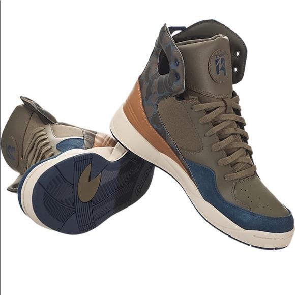 fe5067ea843 Alicia Keys Reebok Court Hi Sneakers Camo M41271. M 5aa6e3a79d20f0601188a7ab